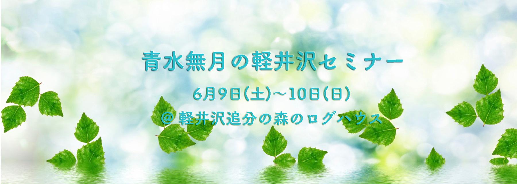 青水無月の軽井沢セミナー