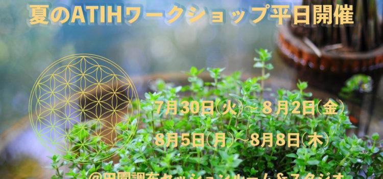 2019夏のATIHワークショップ平日開催
